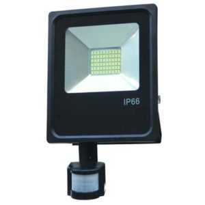 10W LED floodlight spotlight cold white 6500K with motion detector