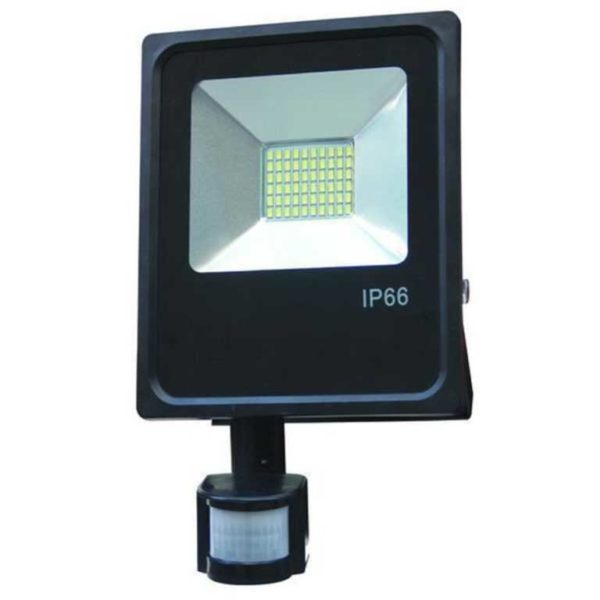 20W LED floodlight spotlight cold white 6500K 1800 lumens with motion detector