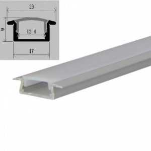 2m-led-mounting profile-bar-12mm-silver-incl.cover-and-end caps