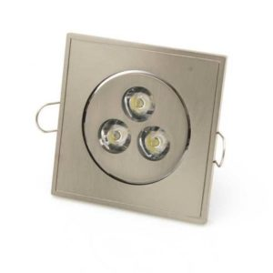 3W LED Recessed Luminaires Square Warm White 2900K
