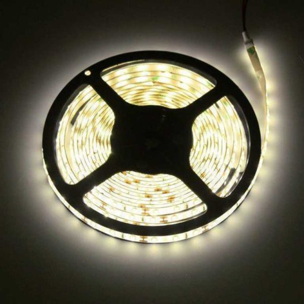 5m LED Strip 12V 3528 varmvit 2900K 4.8W IP20