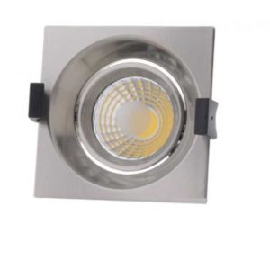 8w recessed lamp-cob-quad-inox-swivel-cold white-6000k