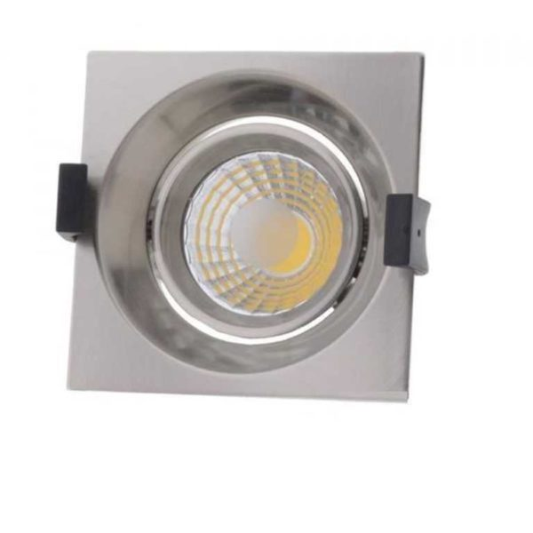 8w recessed lamp-cob-quad-inox-swivel-neutral white-4500k