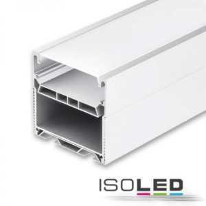 Isoled LED lamp profile LAMP55 anodized incl. opal/satin covered, 150cm