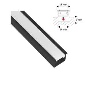 led-installation-profile-bar-black-2m-incl-opal-cover